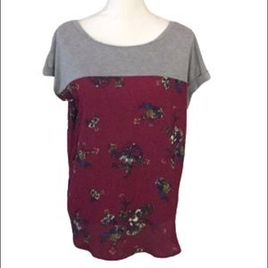Rewind high low top, grey and wine flowered XL